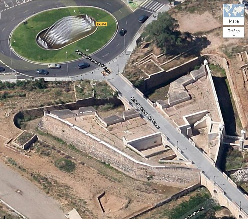 Plazas fuertes Badajoz en 1700
