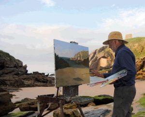 El Pintor Lozano Enríquez en Santillana del Mar Agosto 2011