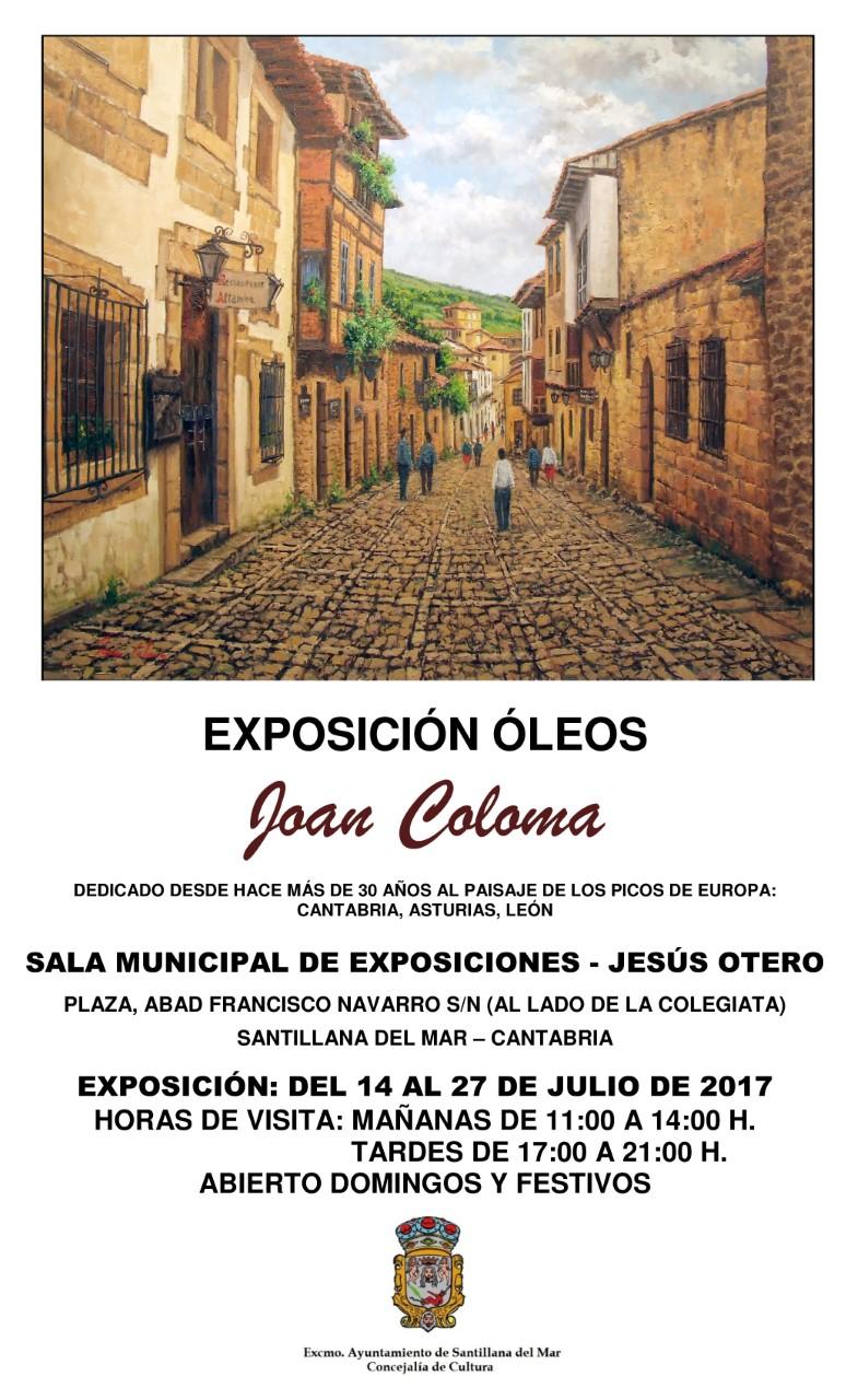 Joan Coloma expone en Santillana del Mar