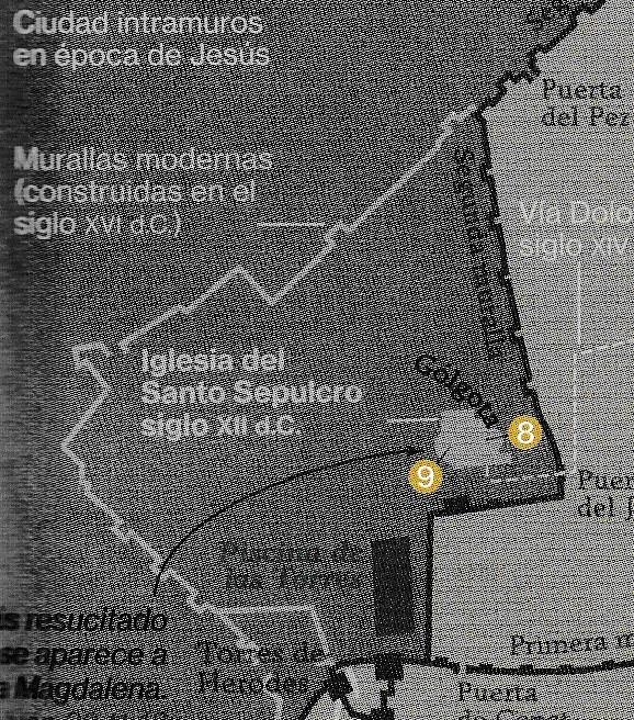 ¿Dónde estaba el Gólgota? Zoom sobre la zona dle Santio Sepulcro de Jerusalén. NG diciembre 2.017.