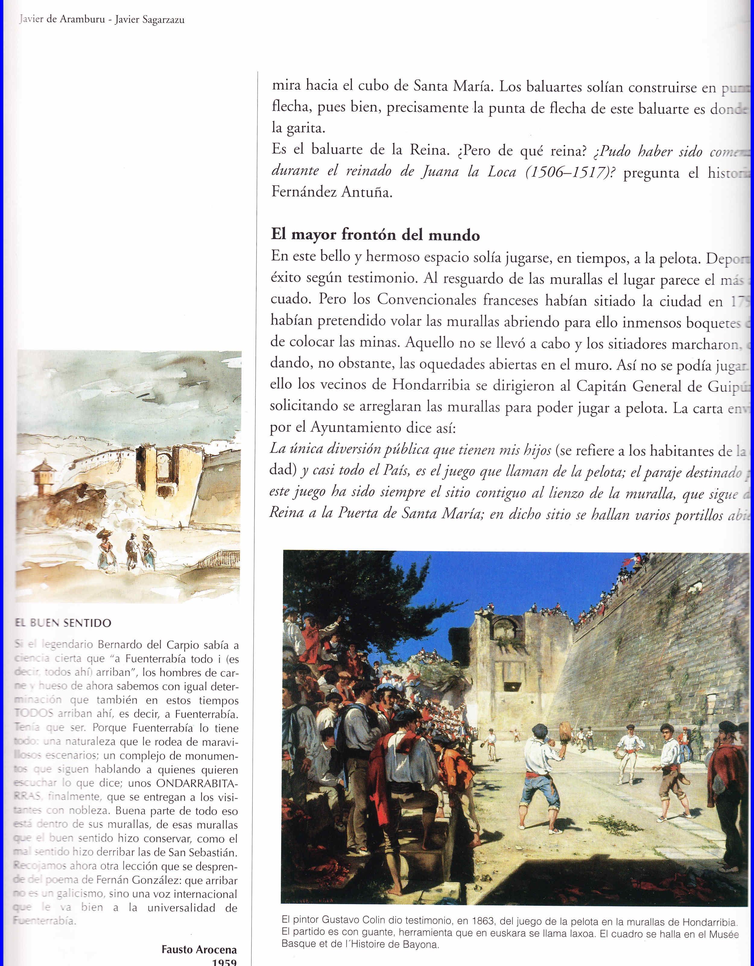 Libro de Javier Sagarzazu sobre Hondarribia Fuenterrabía