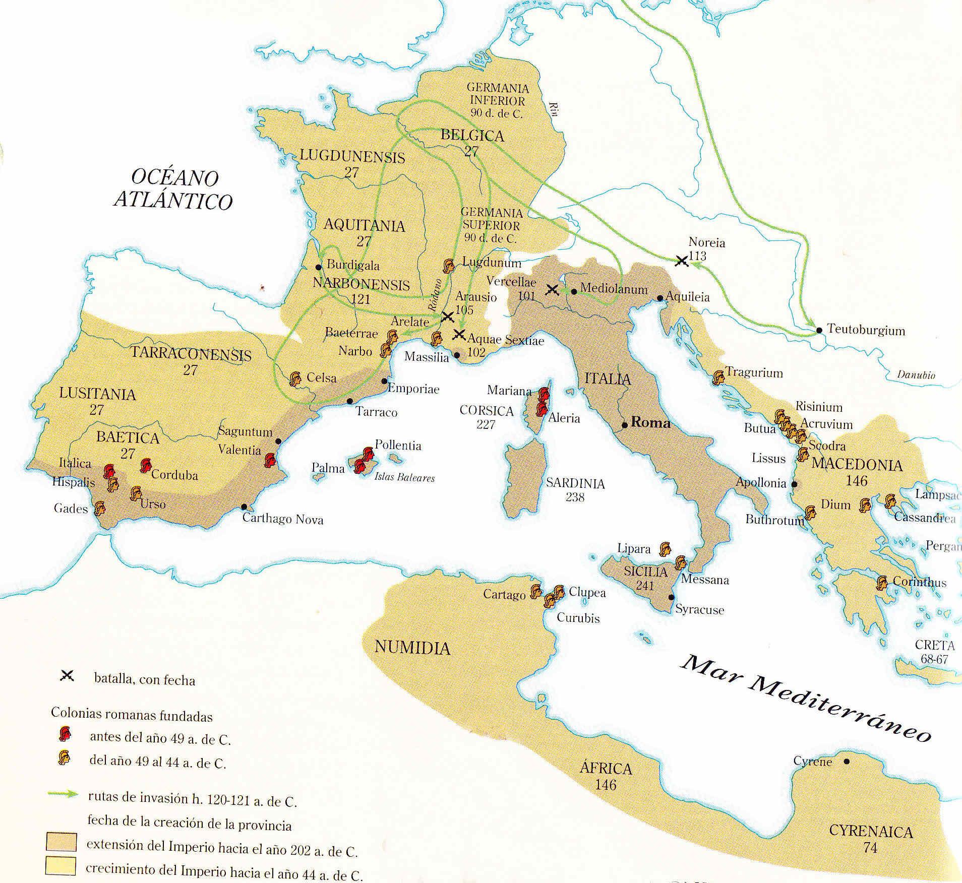 Egipto Antiguo 200 Leyes establecidas por Julio César