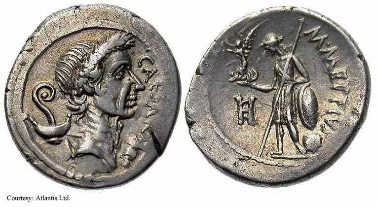 Egipto Antiguo 202 Julio César monedas Imperios y Egipto