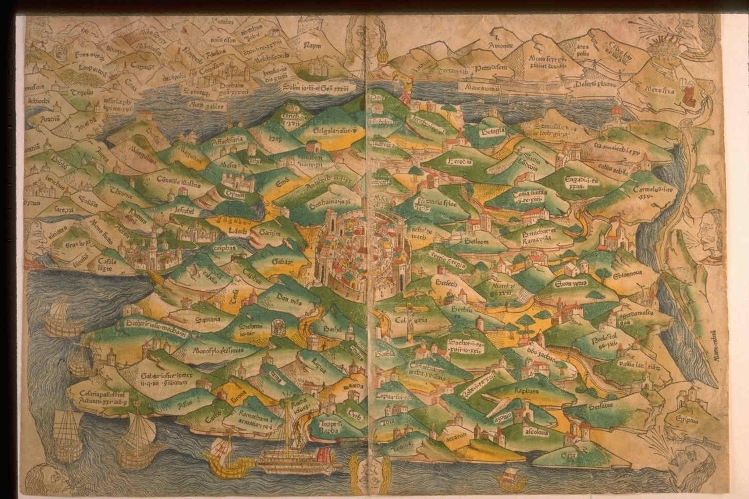 Mapas antiguos de Jerusalem Mundo helenístico 49