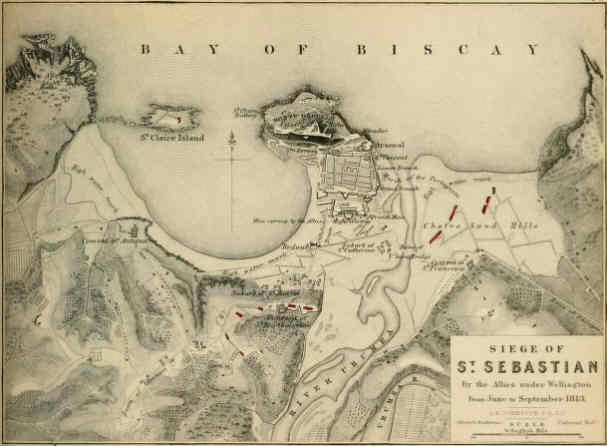 Las derrotas de Napoleón El sitio de San Sebastián