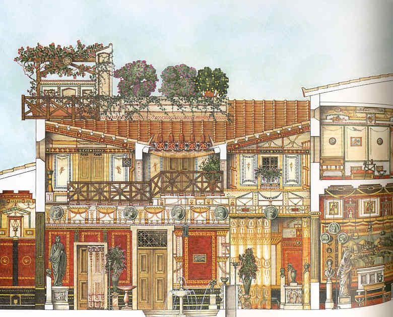 Pintura 12 Dos mansiones de Pompeya