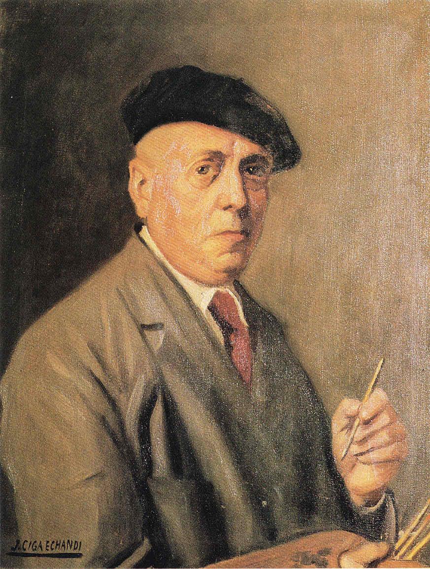 Javier Ciga Profesor de Ascunce Pintores navarros La Pintura 152