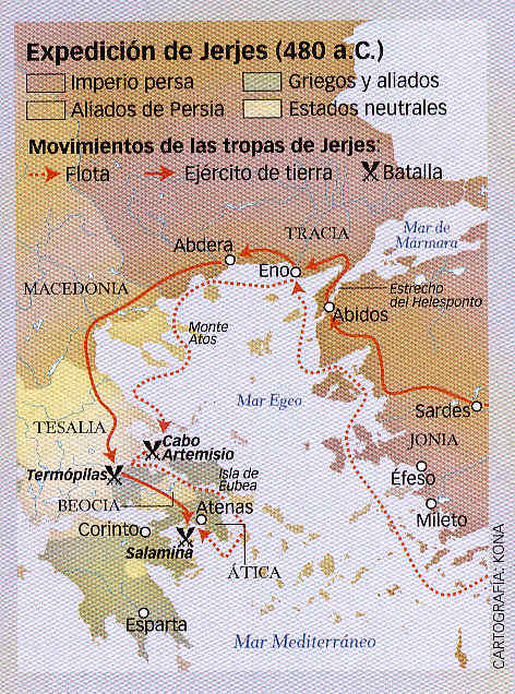 En vísperas de Salamina Grecia clásica 51