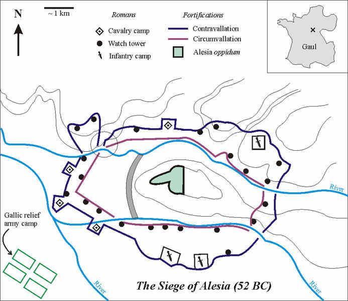 Egipto Antiguo 144 El planteamiento del sitio de Alesia