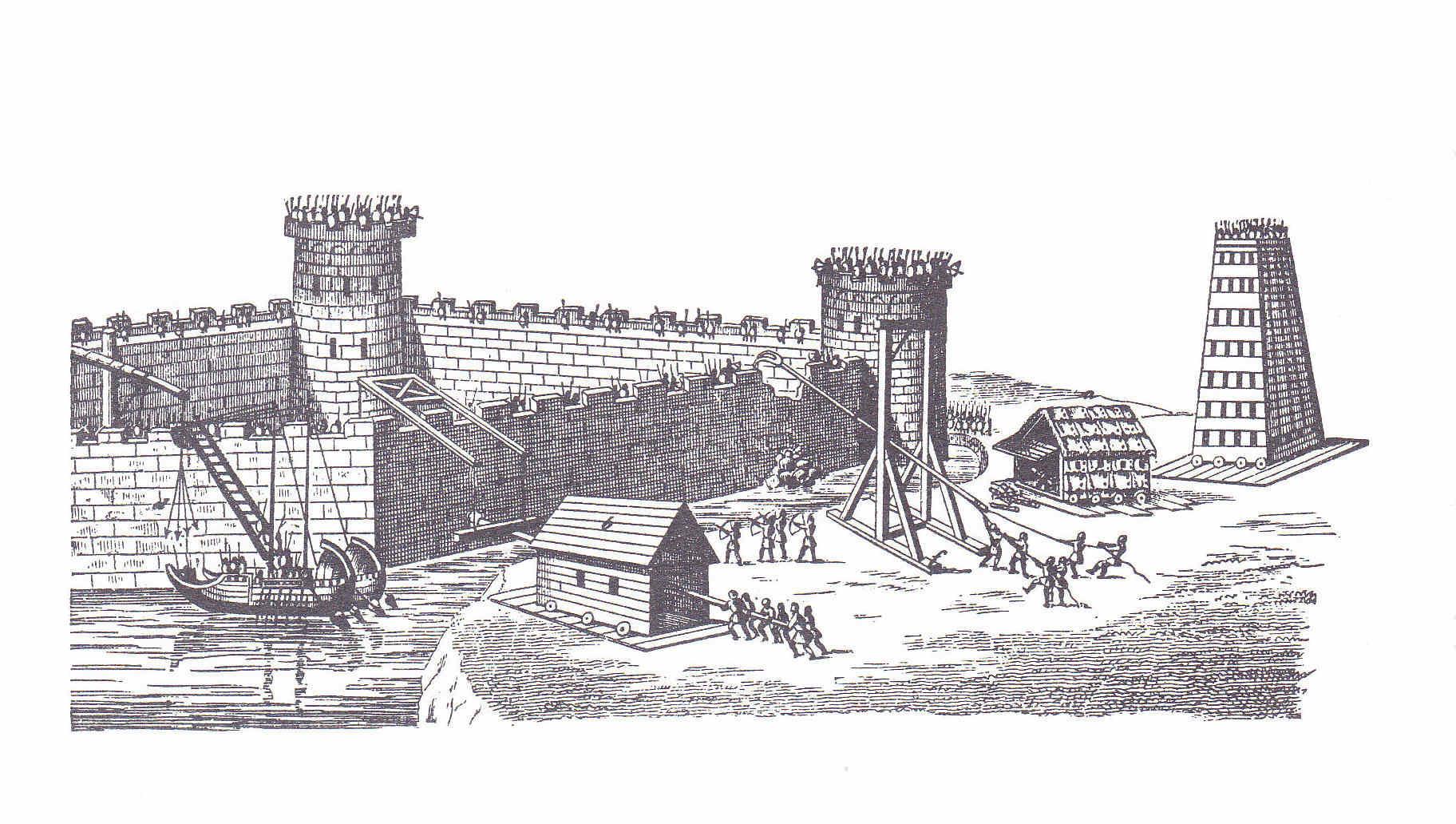 Egipto Antiguo 130 Murallas y defensas en caso de sitio