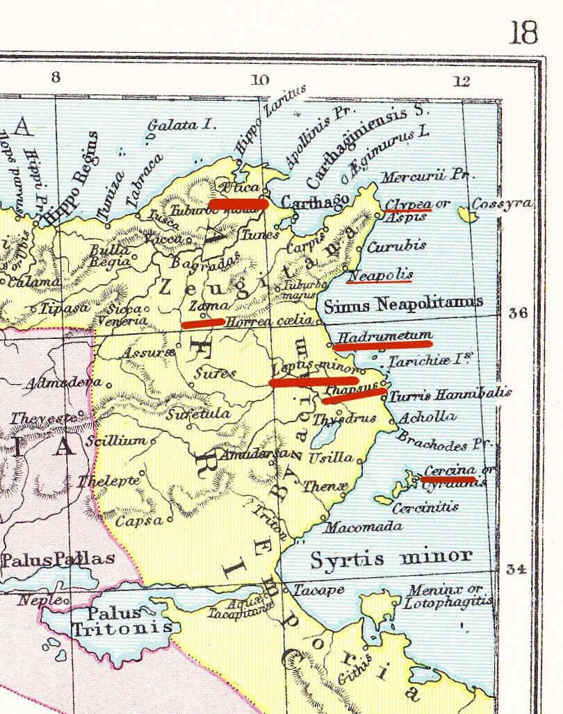 Egipto Antiguo 128 Camino cubierto de César en Africa Armas