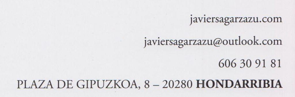 Exposición de Javier Sagarzazu en Hondarriba-Fuenterrabía, hasta el 3 de Septiembre