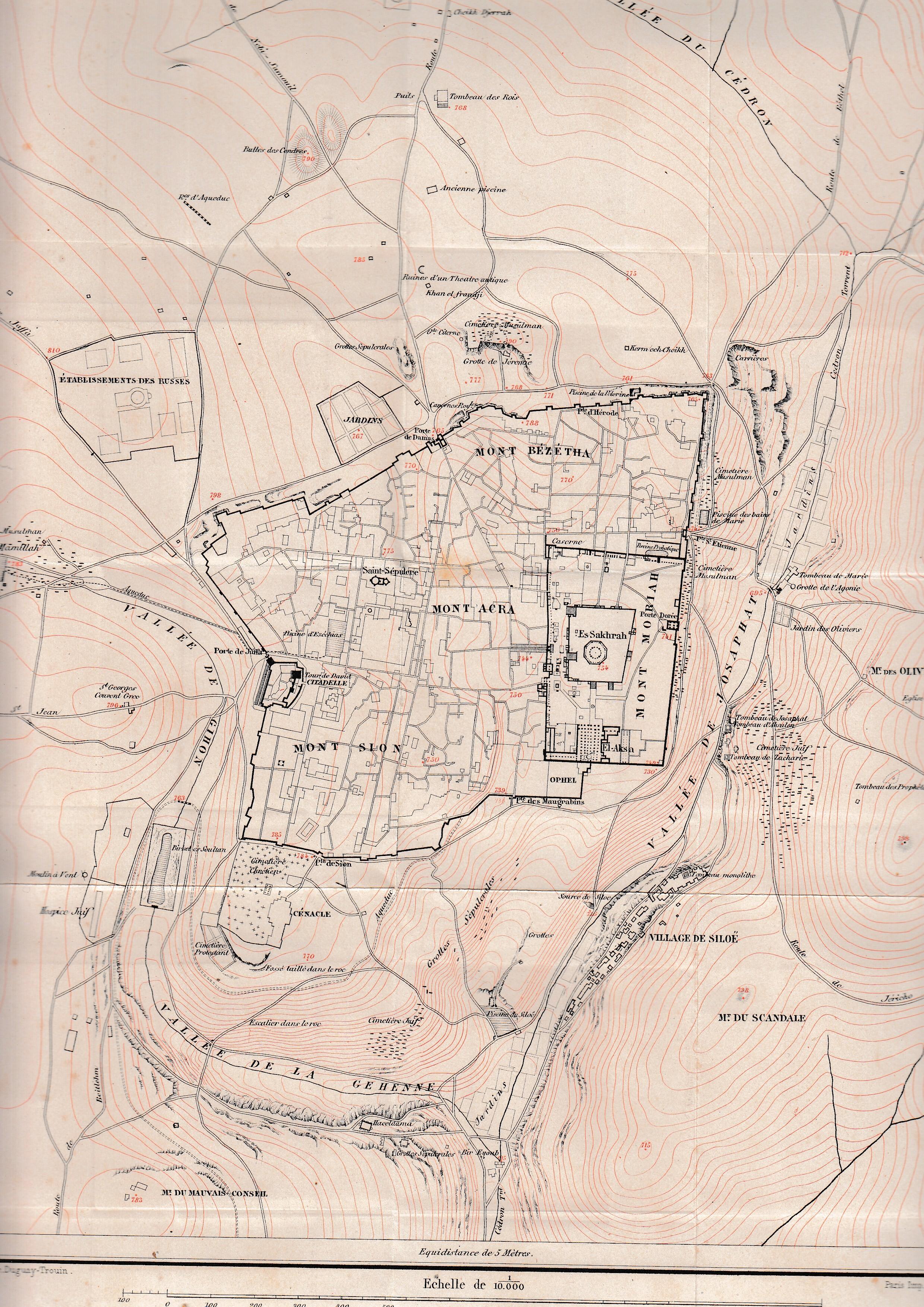 Sobre una Tumba de Jerusalén. Plano general de Jerusalén.