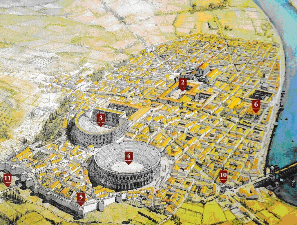 Suburbios en ciudades de la Antigüedad. Arelate (Francia).