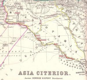 Jualiano bajó contra los Partos por el Eúfrates