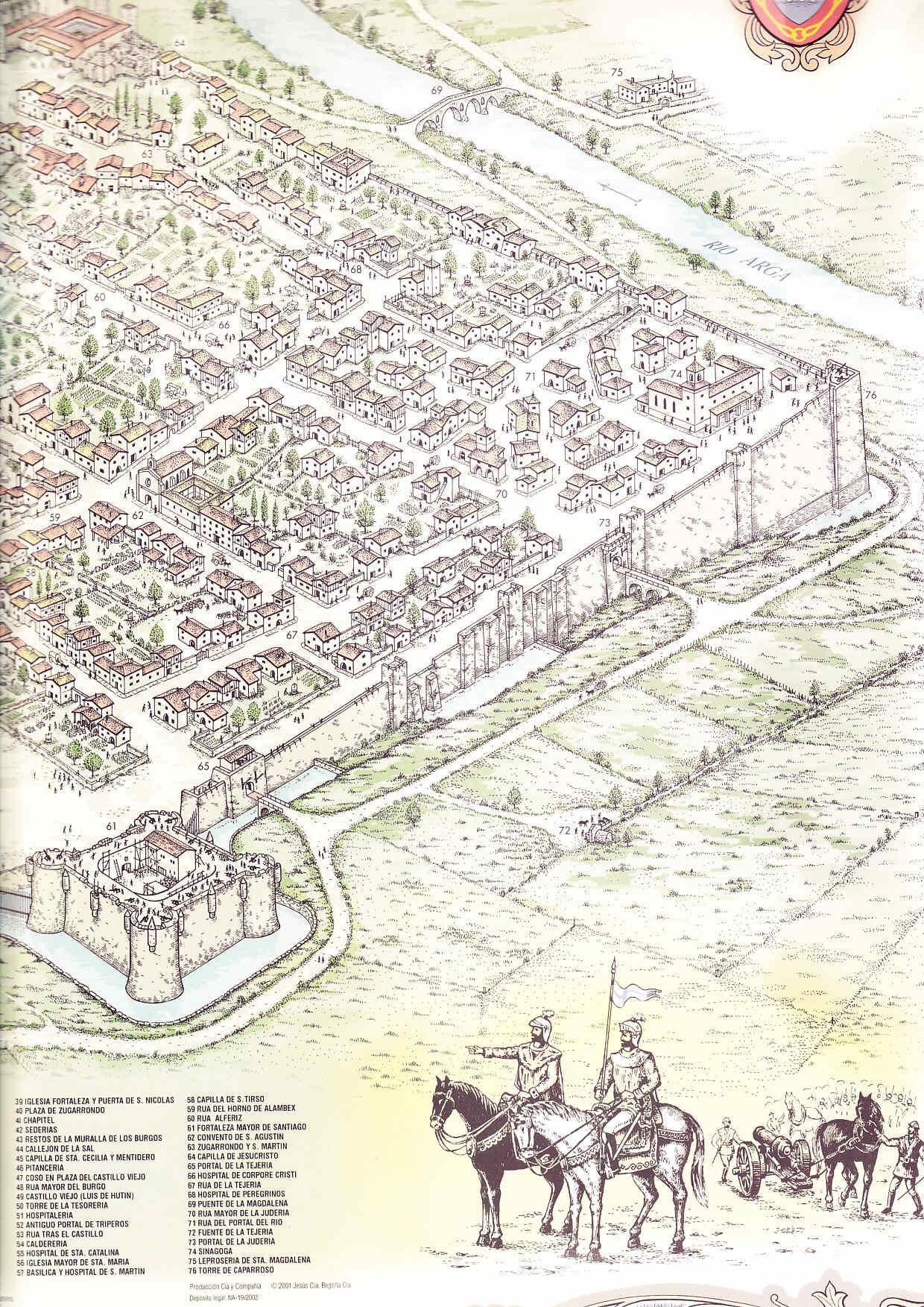 Las murallas de Pamplona en 1521