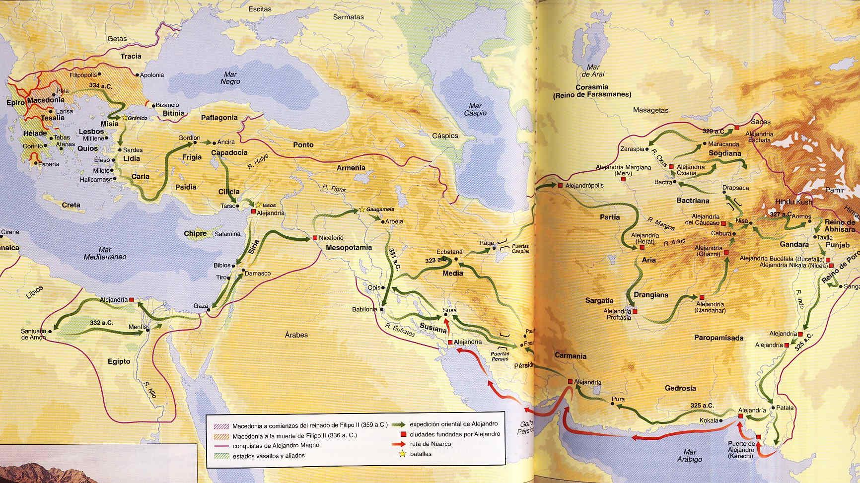 Alejandro y la conquista de un Imperio