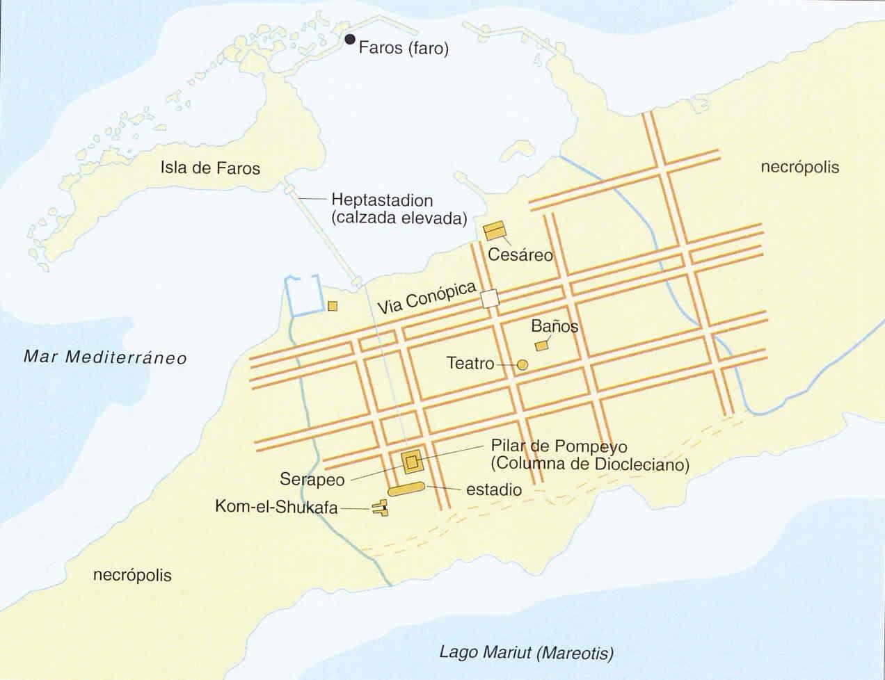Egipto antiguo 7 y la ciudad de Alejandria