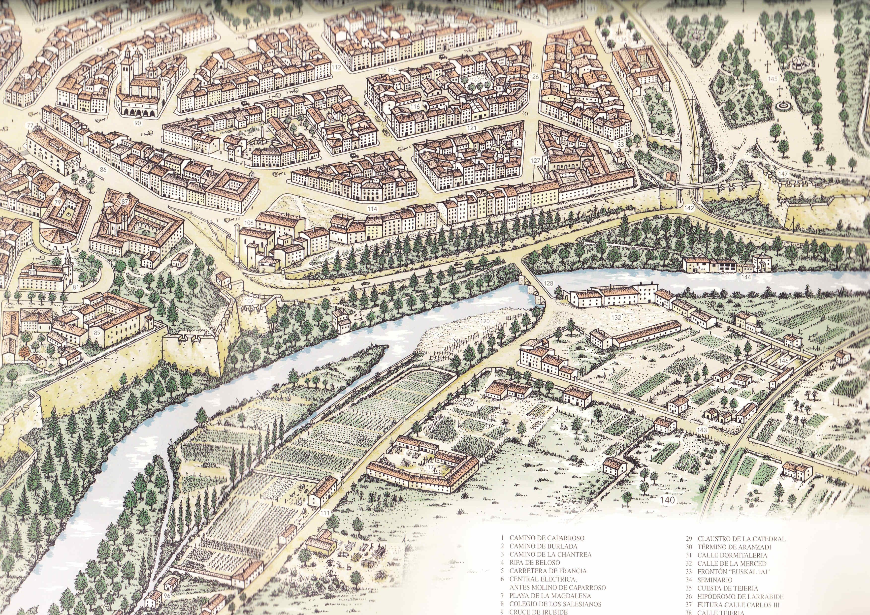 Pamplona en 1920 La Ciudadela la Taconera y la Rochapea