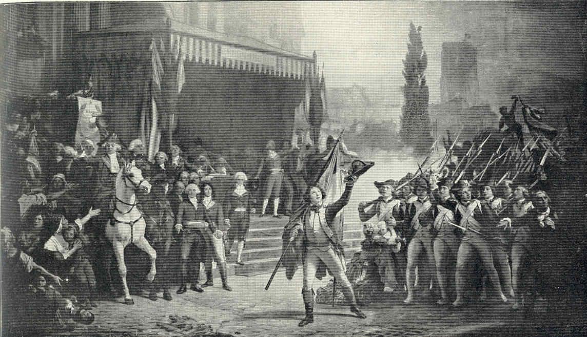 París 43 Nueva Asamblea Veto real Guerra a Austria Brunswick