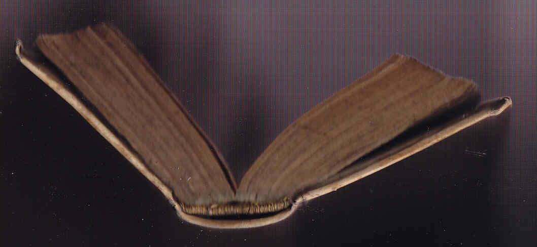 Restauración de libro antiguo y los lomos