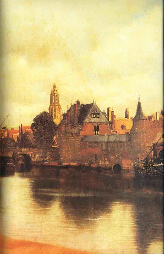 Jan Vermeer pinta su ciudad Delft La Pintura 105