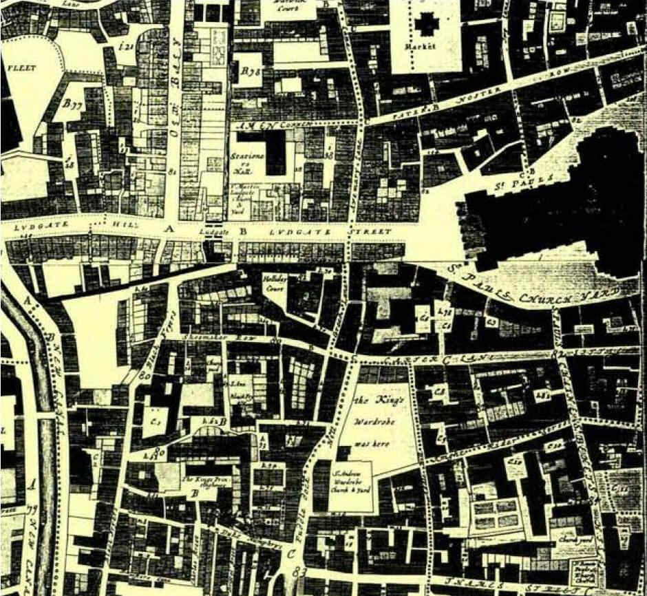 Paternoster Row en 1700