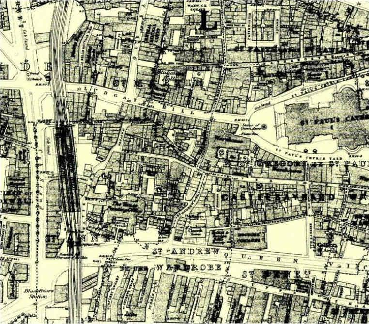 Paternoster Row en 1800