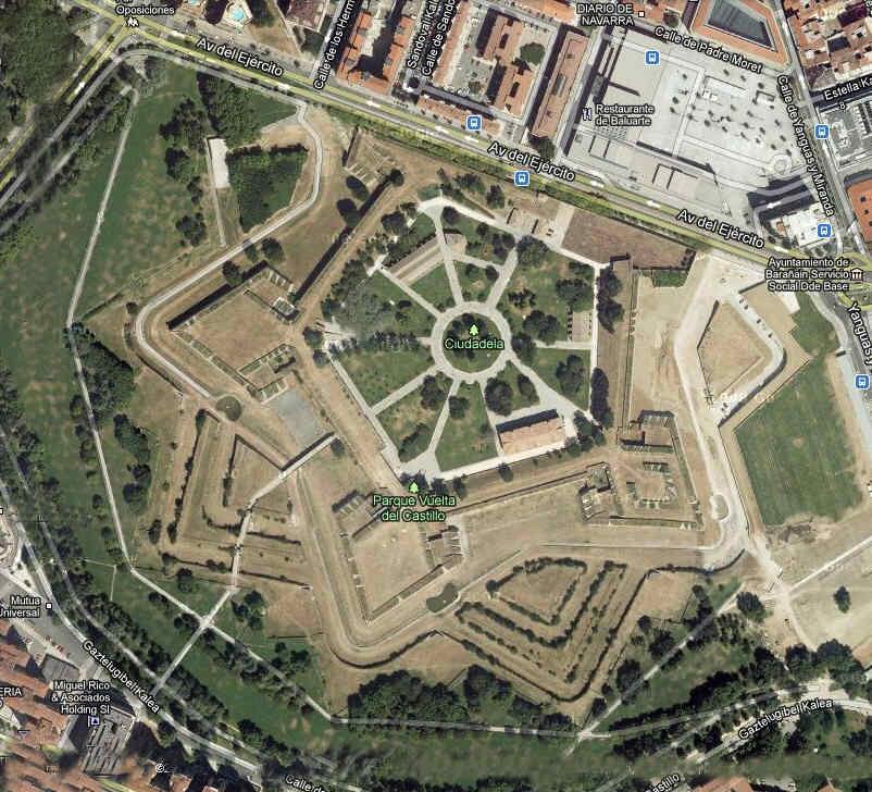 Las cinco Ciudadelas pentagonales regulares del mundo