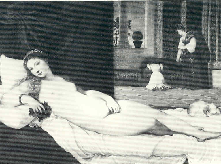 La Pintura 60 Manet Su maja desnuda Olimpia